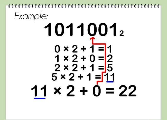 Conversia de la pasul binar la cel decimal 13