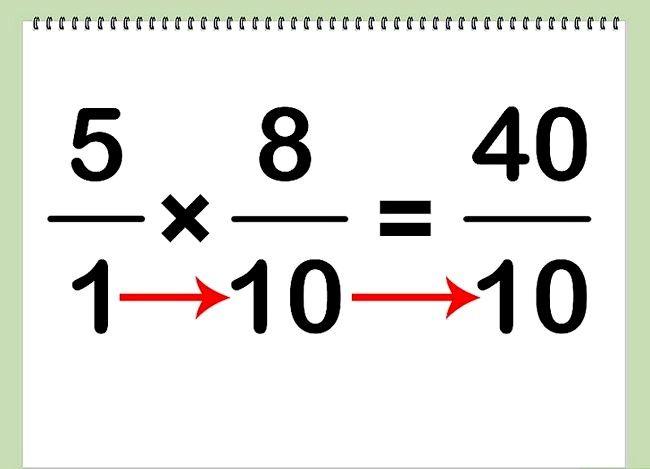 Imaginea intitulată Multiplicarea fracțiunilor cu numere întregi Pasul 3