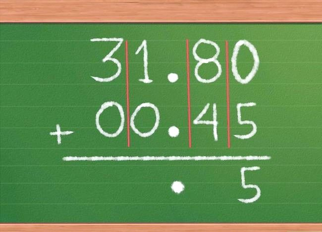 Imaginea cu titlul Adăugați decimale Pasul 6