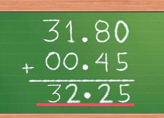 Imaginea cu titlul Adăugați zecimale Pasul 8