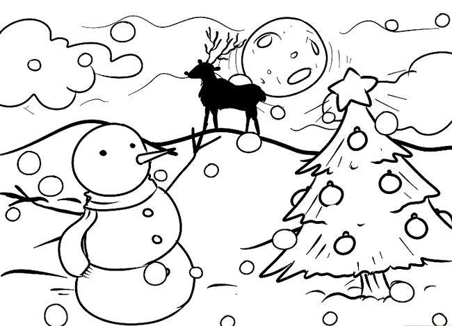 Imagine cu titlul Desenarea unui peisaj de Crăciun Pasul 11