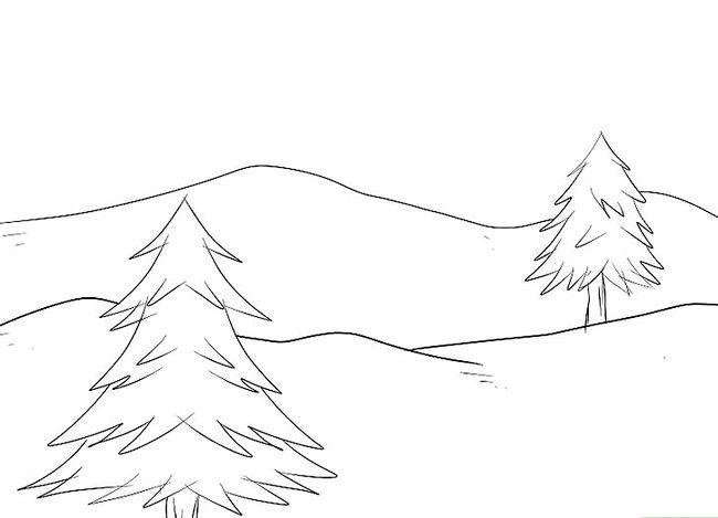 Imagine cu titlul Desenarea unui peisaj de Crăciun Pasul 3