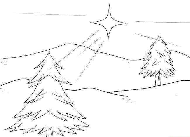 Imagine cu titlul Desenarea unui peisaj de Crăciun Pasul 4