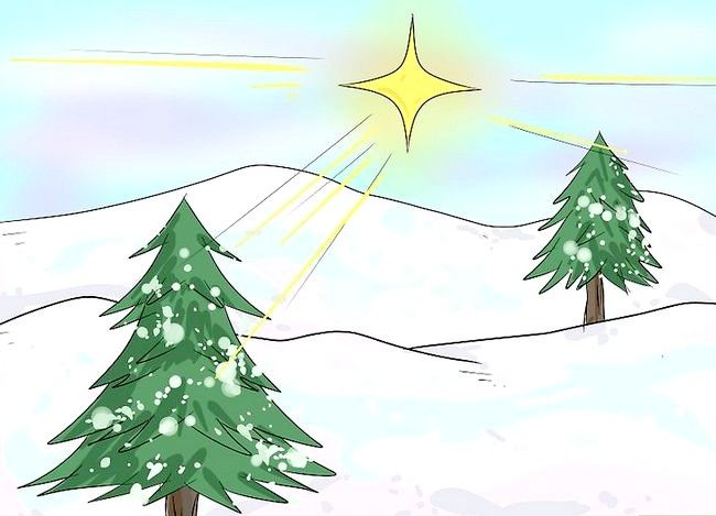 Imagine cu titlul Desenarea unui peisaj de Crăciun Pasul 5