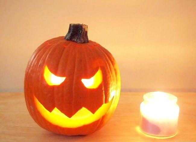 Imagine cu denumirea Lumina o dovleac pentru Halloween Pasul 2