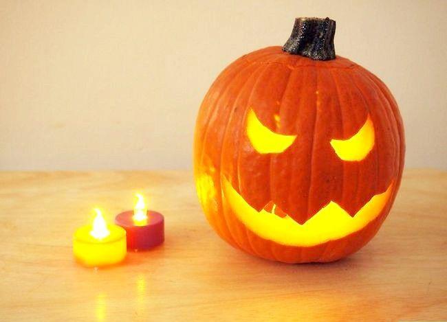Imagine cu denumirea Lumina o dovleac pentru Halloween Pasul 4