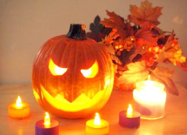 Imagine cu denumirea Lumina o dovleac pentru Halloween Pasul 6