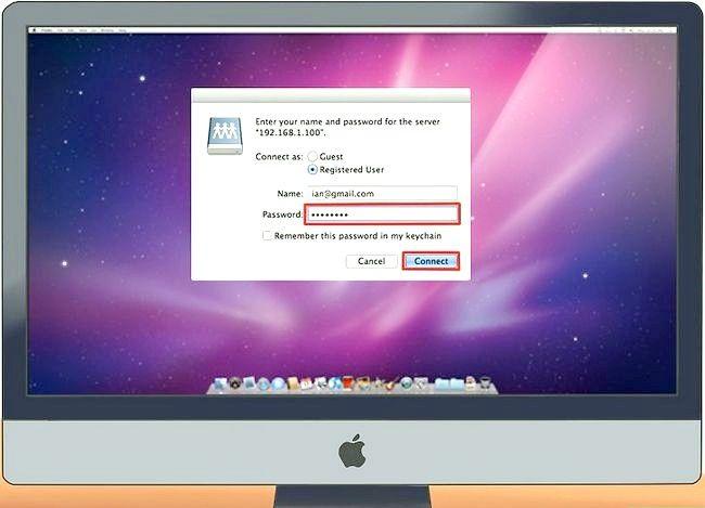 Imaginea intitulată Conectarea unui PC la un Mac Pasul 14