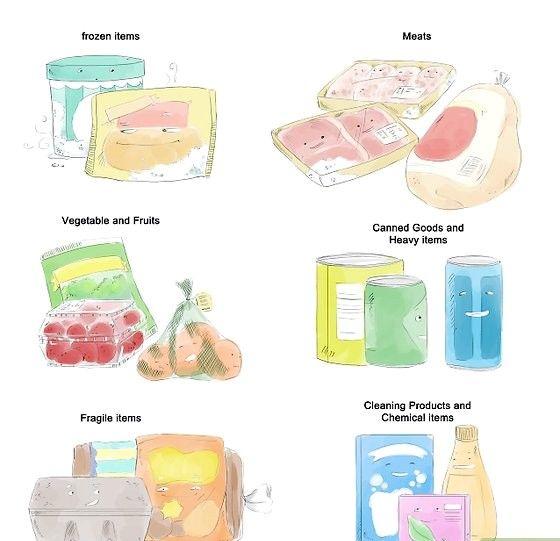 Împachetați articolele achiziționate în saci și pungi