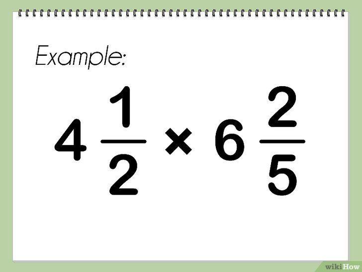 Imagine intitulată Multiplicarea numerelor mixte Pasul 1