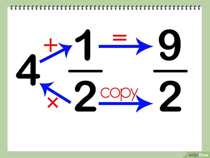 Imagine intitulată Multiplicarea numerelor mixte Pasul 2