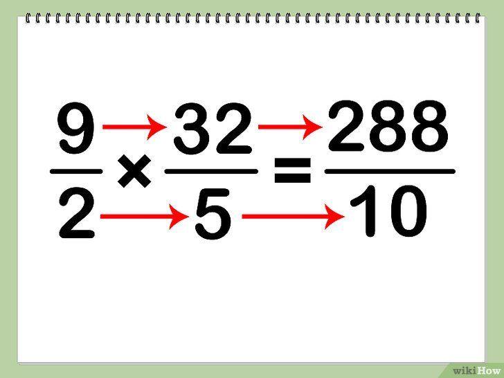 Imagine intitulată Multiplicarea numerelor mixte Pasul 4