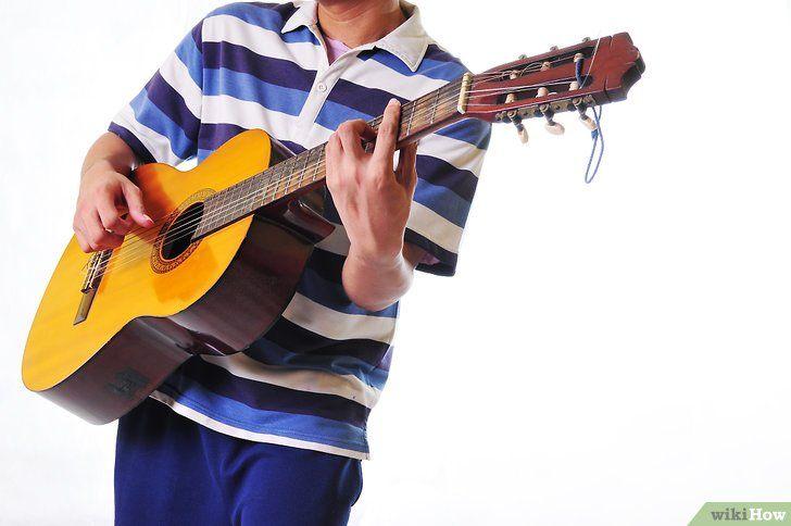 Imagine intitulată Începeți să învățați chitara pasul 1