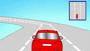 Conduceți un colț rapid, strâns cu mașina