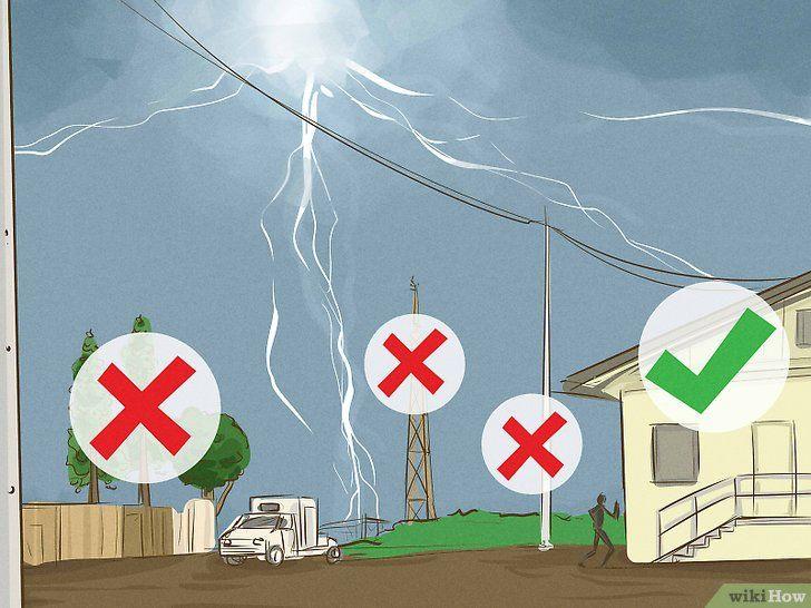 Căutați protecție împotriva unei furtuni