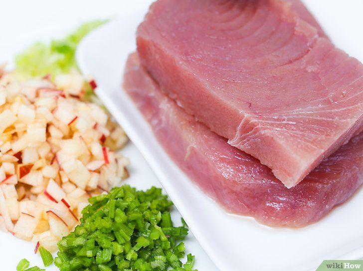 Imaginea intitulă Make Salmon Tuna Pasul 10