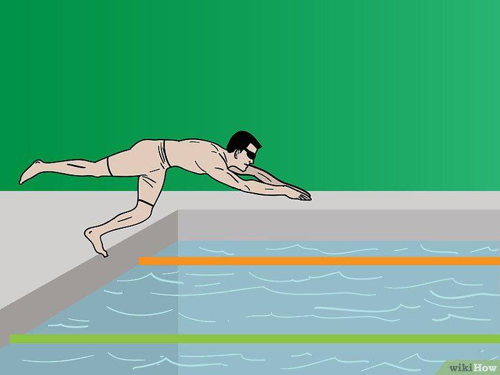 Săriți dintr-un bloc de pornire în apă