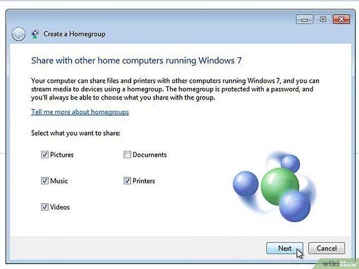 Imagine intitulată Conectați Windows 8 la Windows 7 Pasul 2Bullet4