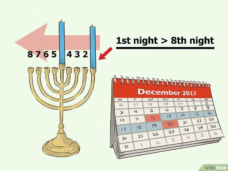 Imagine cu denumirea Lumina unui meniu cu Chanukah Pasul 4