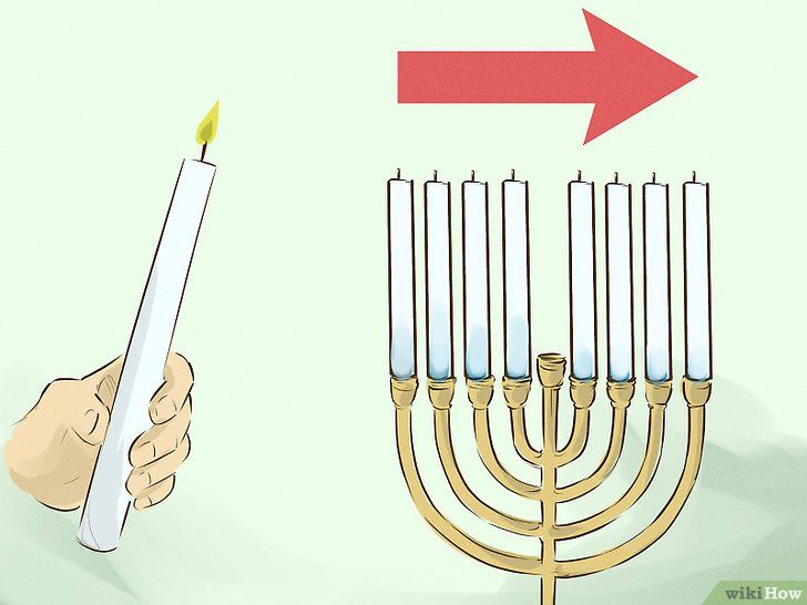 Imaginea intitulată Lumina unui menorah din Chanuka Pasul 9
