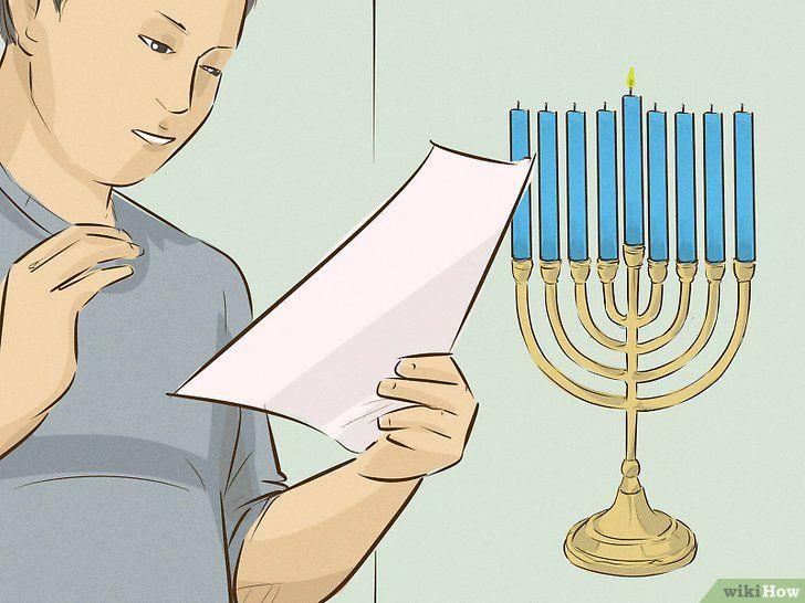 Imagine cu denumirea Lumina unui meniu cu Chanukah Pasul 6