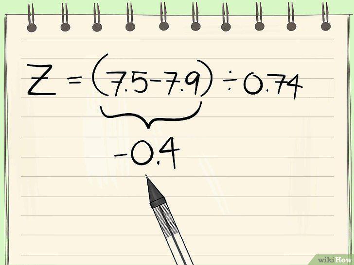Imaginea intitulată Calculate Z Scores Step 14