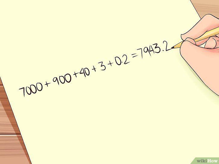 Imaginea intitulată Scrieți cifre în formularul standard Pasul 7