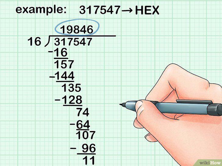 Imaginea intitulată Conversie de la Decimal la Pasul Hexadecimal 11