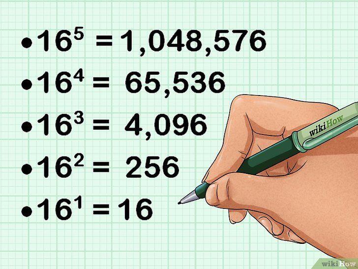 Imaginea intitulată Conversie din decimală în hexadecimal Pasul 2
