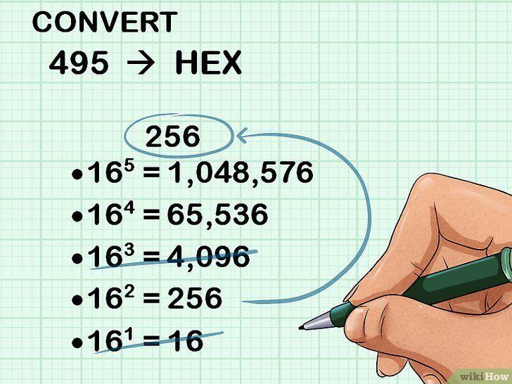 Imaginea intitulată Conversie din decimală în hexadecimal Pasul 3