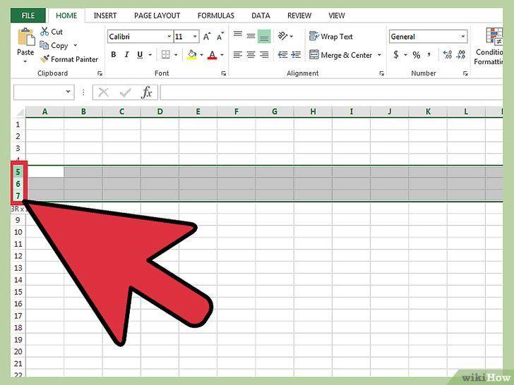 Ascundeți liniile în Excel