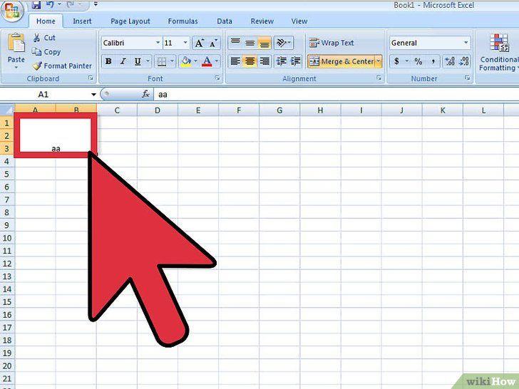 Deconectați celulele din Excel