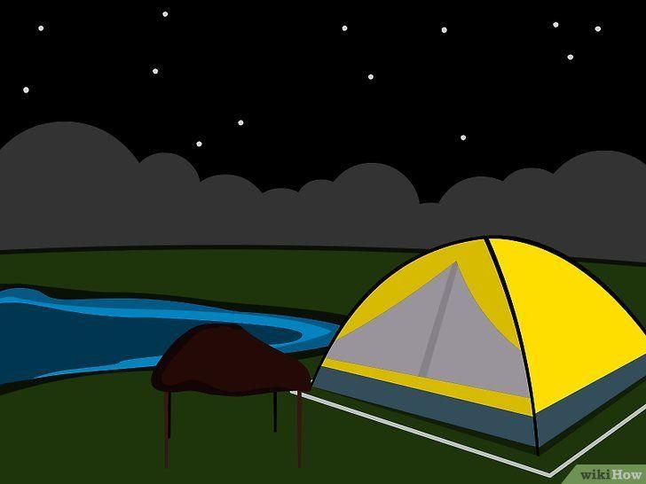 Imagine cu titlul Tabăra într-un cort pe un camping Pasul 12