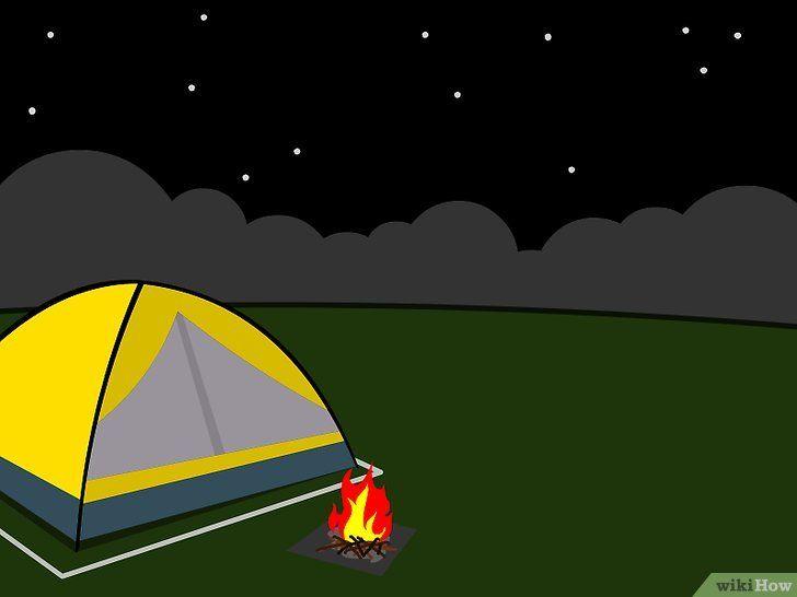 Imagine cu titlul Tabăra într-un cort pe un camping Pasul 14