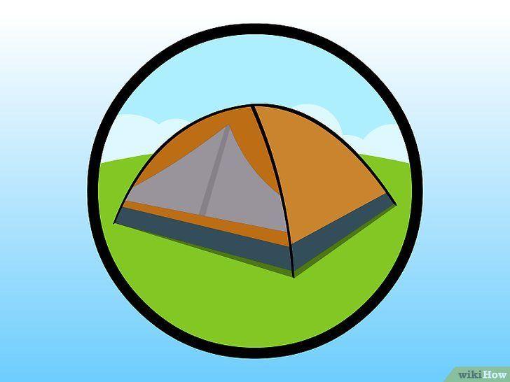 Imagine cu titlul Tabăra într-un cort pe un camping Pasul 2