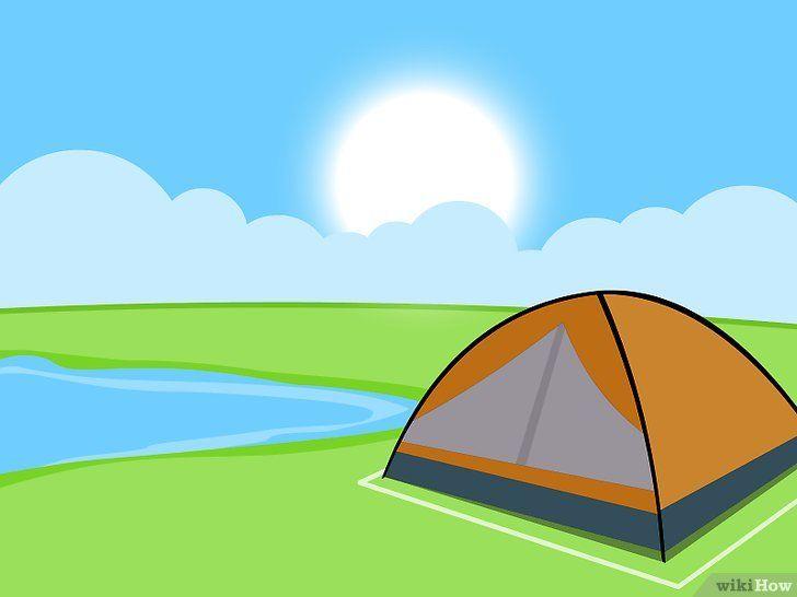 Imagine cu titlul Tabăra într-un cort pe un camping Pasul 9