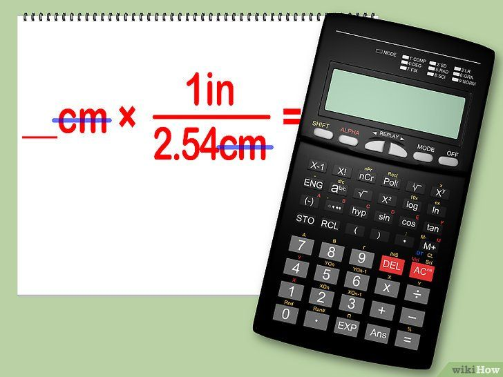 Conversia centimetrilor în centimetri