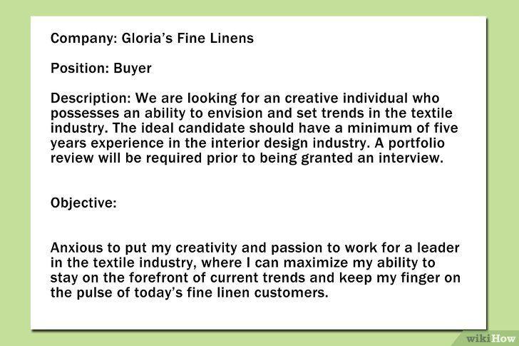 Formați obiectivele în CV