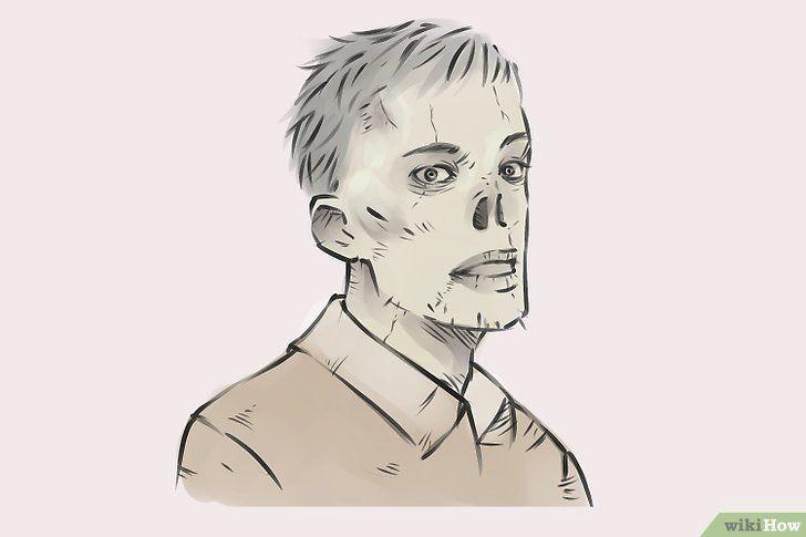 Imagine cu titlul Draw Zombies Pasul 15