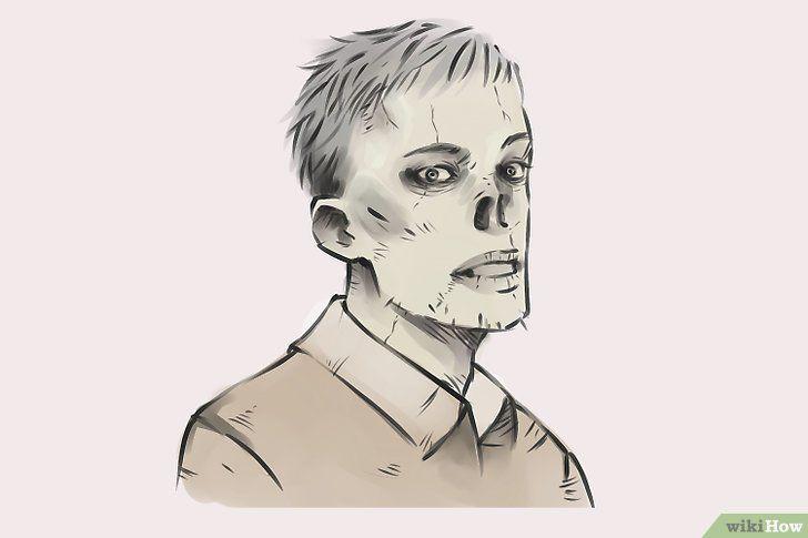 Imagine cu titlul Draw Zombies Step 16