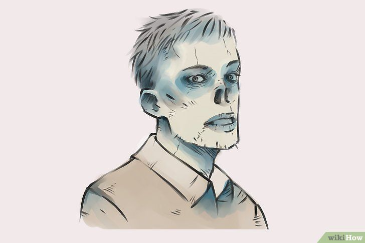 Imagine cu titlul Draw Zombies Pasul 17
