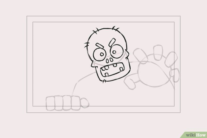 Imagine cu titlul Draw Zombies Step 4