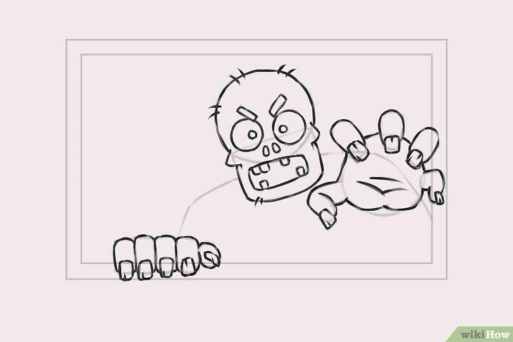 Imagine cu titlul Draw Zombies Pasul 5