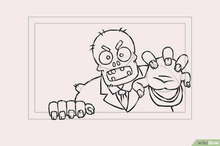 Imagine cu titlul Draw Zombies Pasul 6