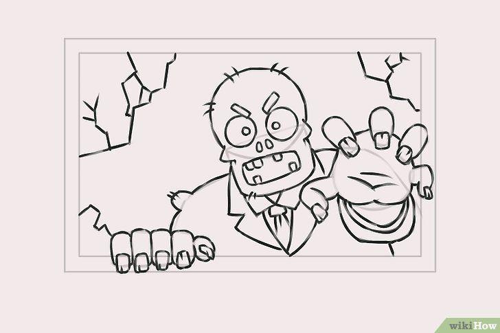 Imagine cu titlul Draw Zombies Pasul 7