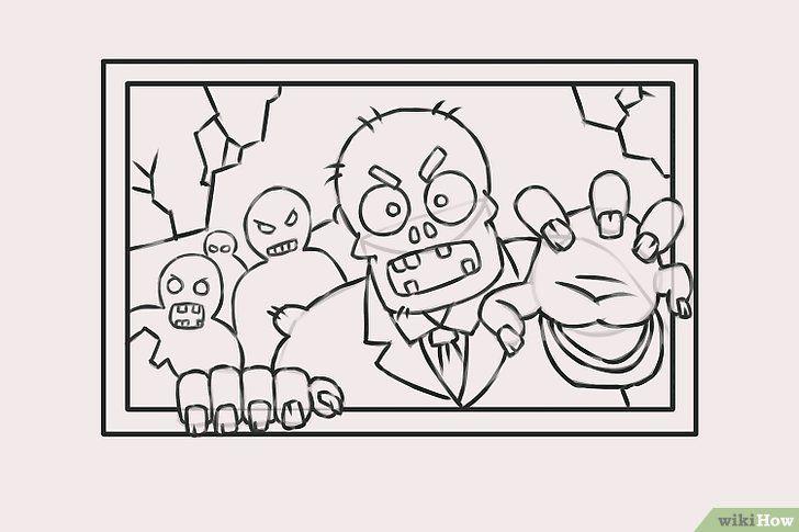 Imagine cu titlul Draw Zombies Pasul 9