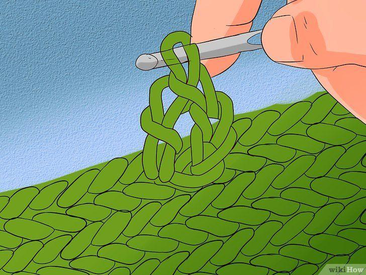 Imaginea intitulată Stitch cu cablu pentru croșetat Pasul 19