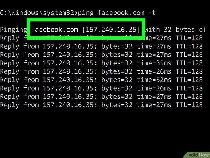 Urmărirea unei adrese IP