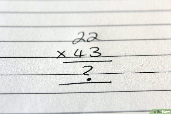 Înmulțiți numere din două cifre
