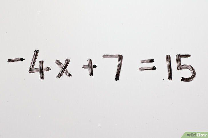 Rezolvați calcule în algebră în două etape